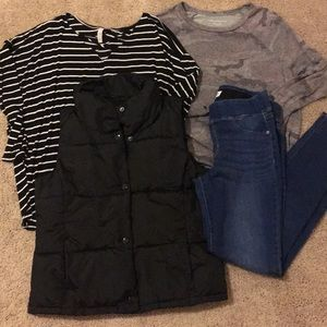 Women's lot - jeans, vest and tops
